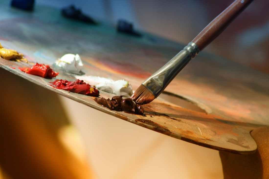 brush painting color paint