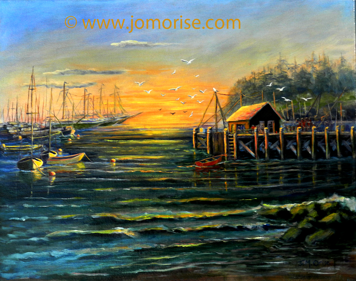 Sunrise at the Docks - Port Clyde2019bsmall-72dpi