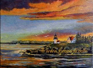 Curtis light house at sunrise